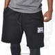 "Hispaniola Port & Trade Company   ""Haitian By Nature"" Black White Premium Unisex Cotton Fleece Shorts"