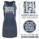 "Hispaniola Port & Trade Company | ""Haitian By Nature"" Heather Navy White Premium Tri-Blend Summer Dress"