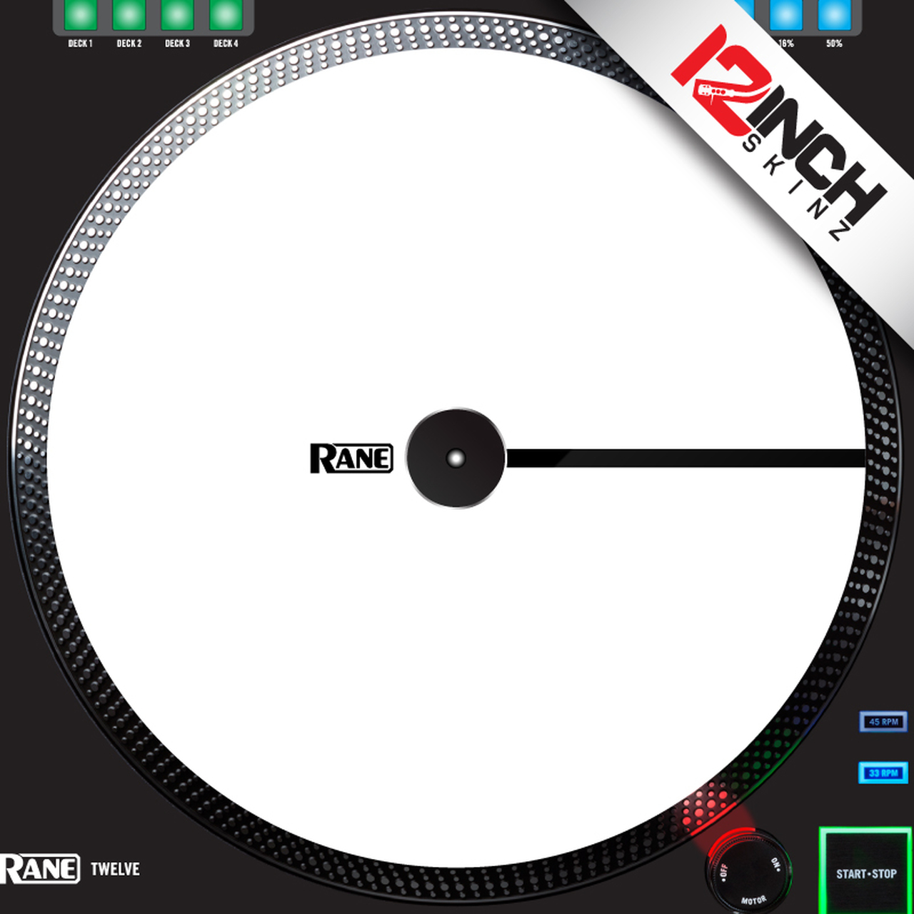 Control Disc Rane Twelve MK1 & MK2 OEM (SINGLE) - Cue Colors