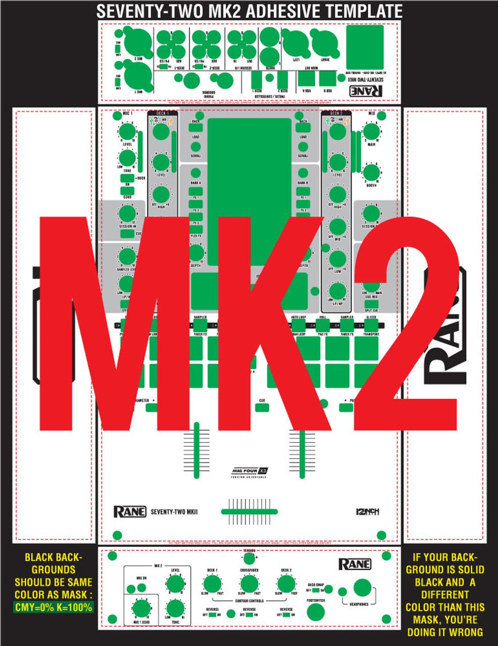 Rane  Seventy-Two MK2 Skinz Custom - ADHESIVE