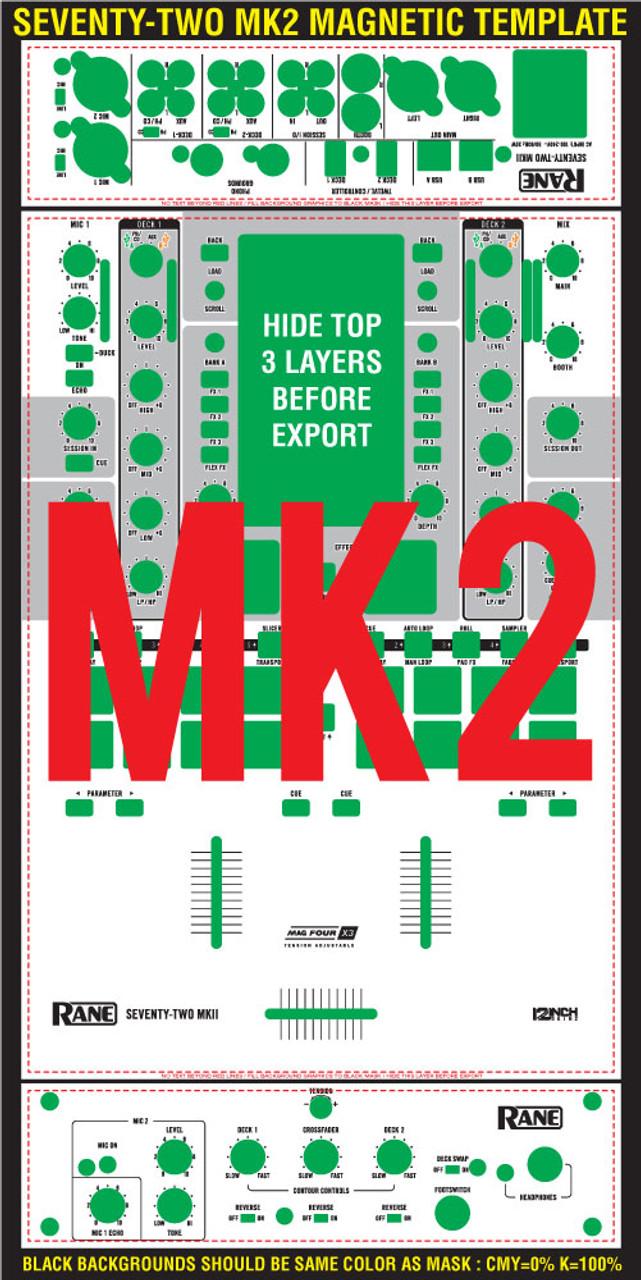 Rane  Seventy-Two MK2 Skinz Custom - MAGNETIC