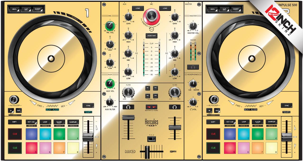 Hercules DJcontrol Inpulse 500 Skinz - Metallics