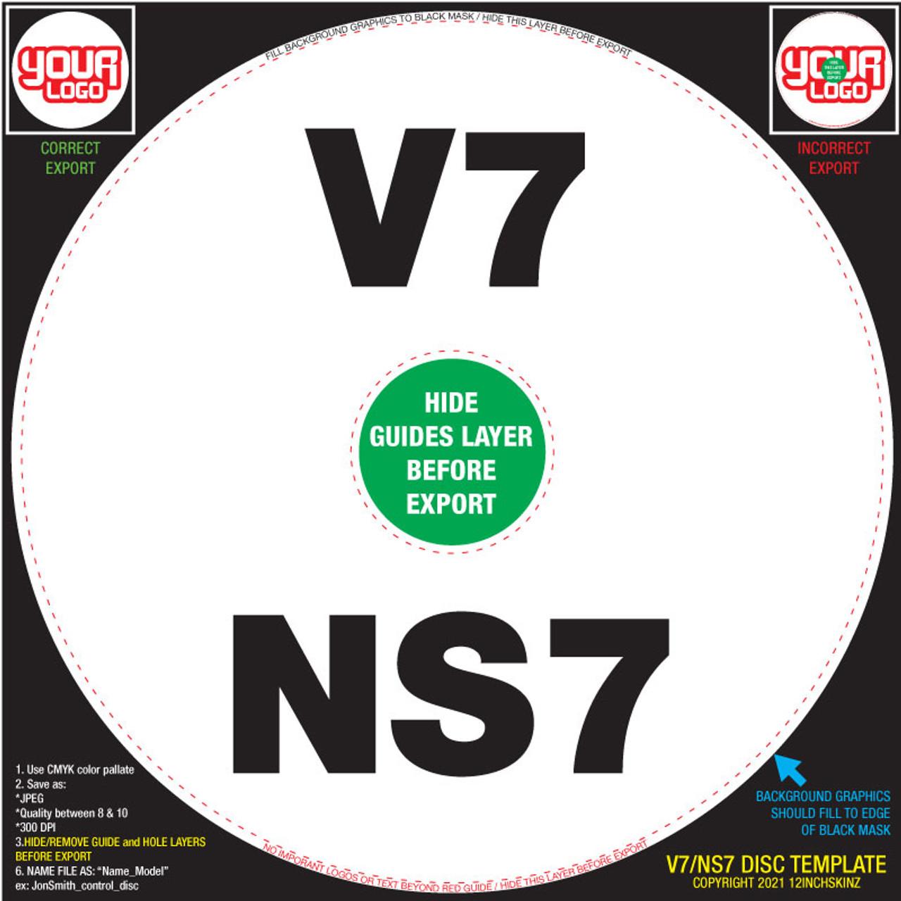 Control Disc OEM (SINGLE) V7 / NS7 / NS7ii / NS7iii - CUSTOM