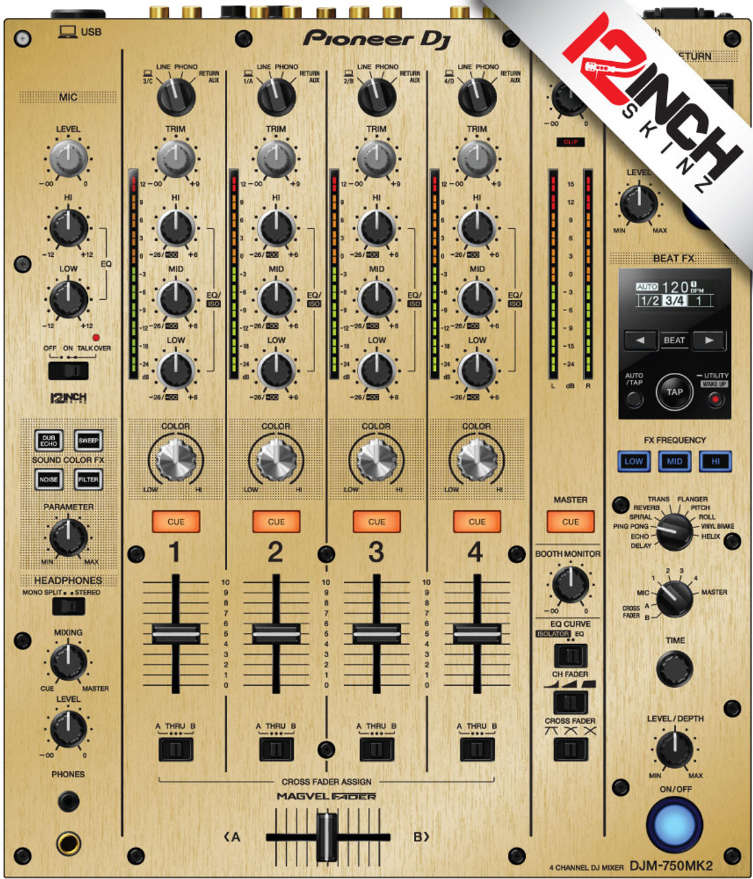 Pioneer DJM-750MK2 Skinz - Metallics