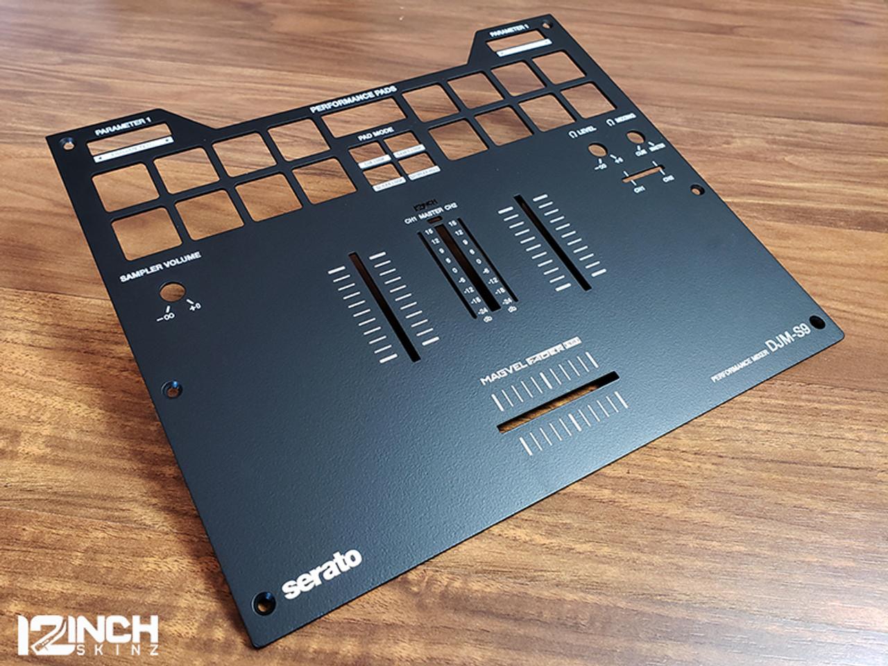 DJM-S9 Powder Coat Black Fader Plate
