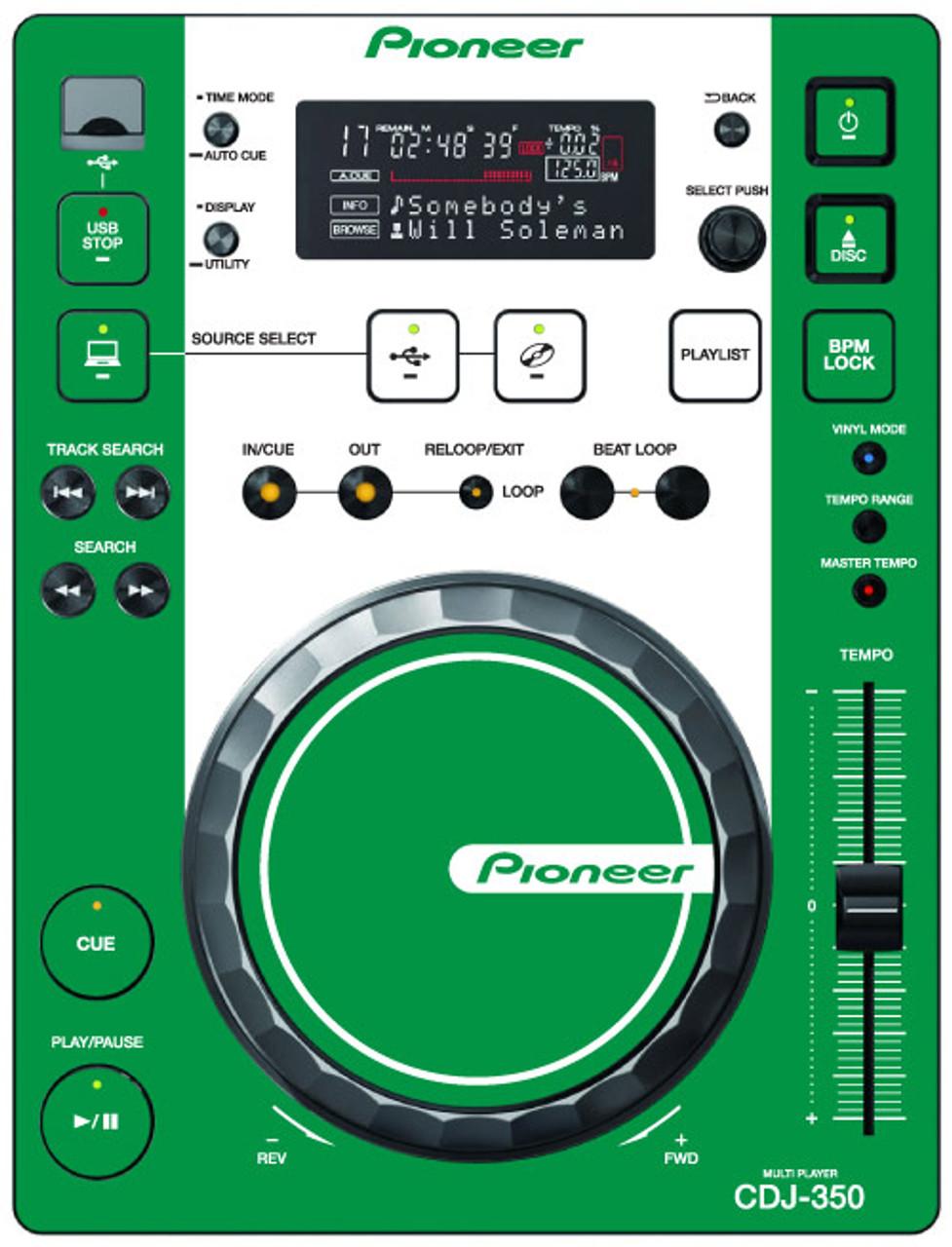 Pioneer CDJ-350 - Green