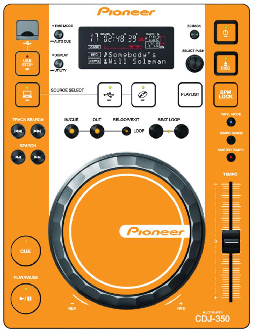 Pioneer CDJ-350 - Orange