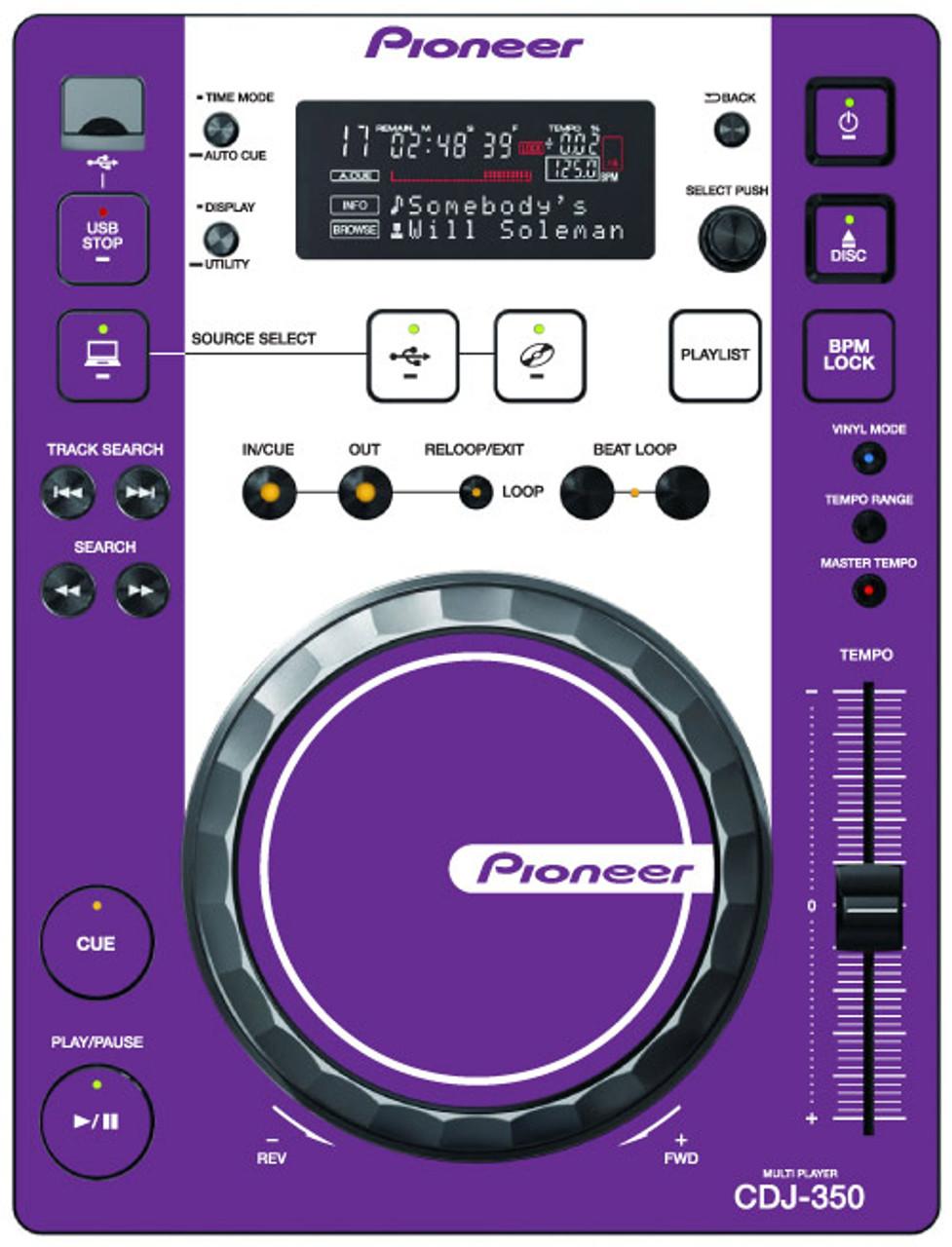 Pioneer CDJ-350 - Purple