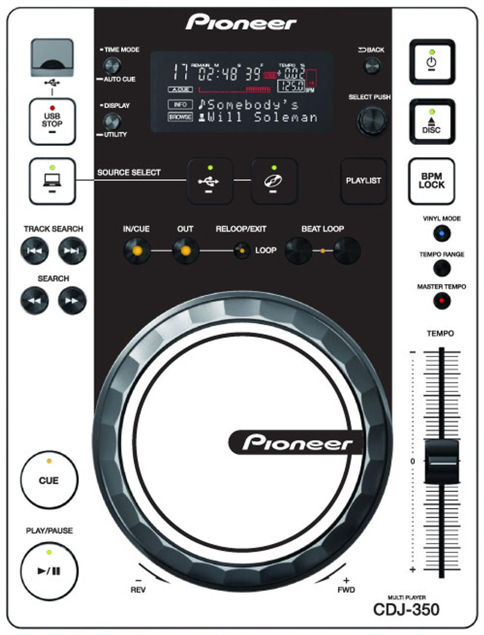 Pioneer CDJ-350 - White