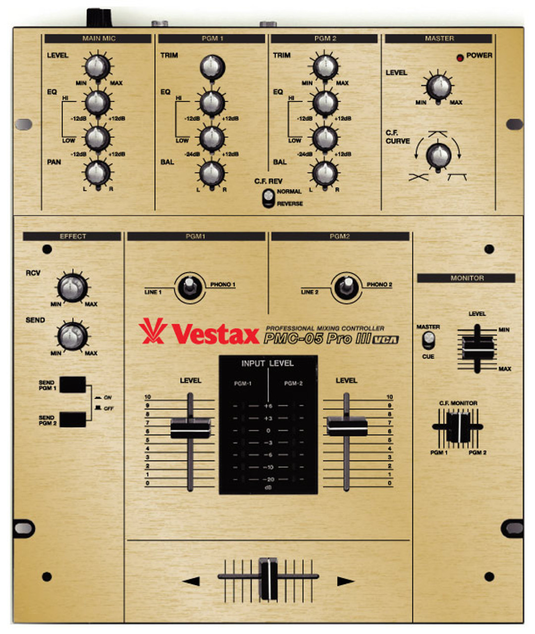 Vestax PMC05Pro-III Skinz - Brushed Gold (The Boss)