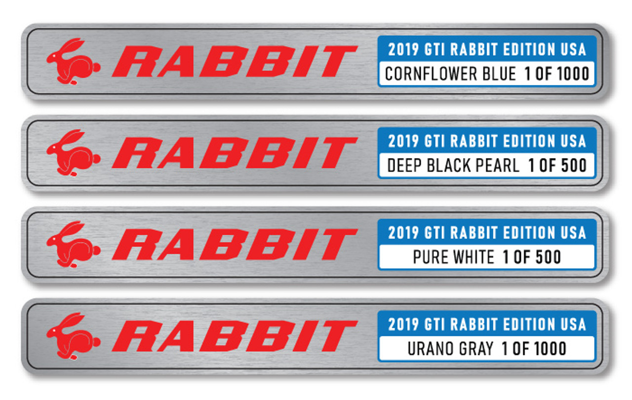 Volkswagen GTI Rabbit 2019 Limited Edition USA Name Plate