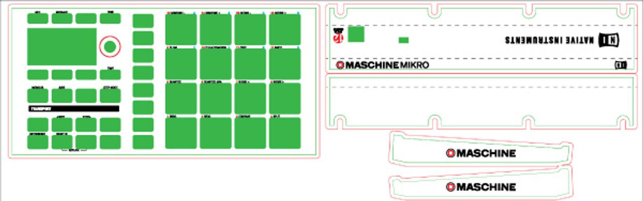 Native Instruments Maschine Mikro MK1 Skinz- CUSTOM