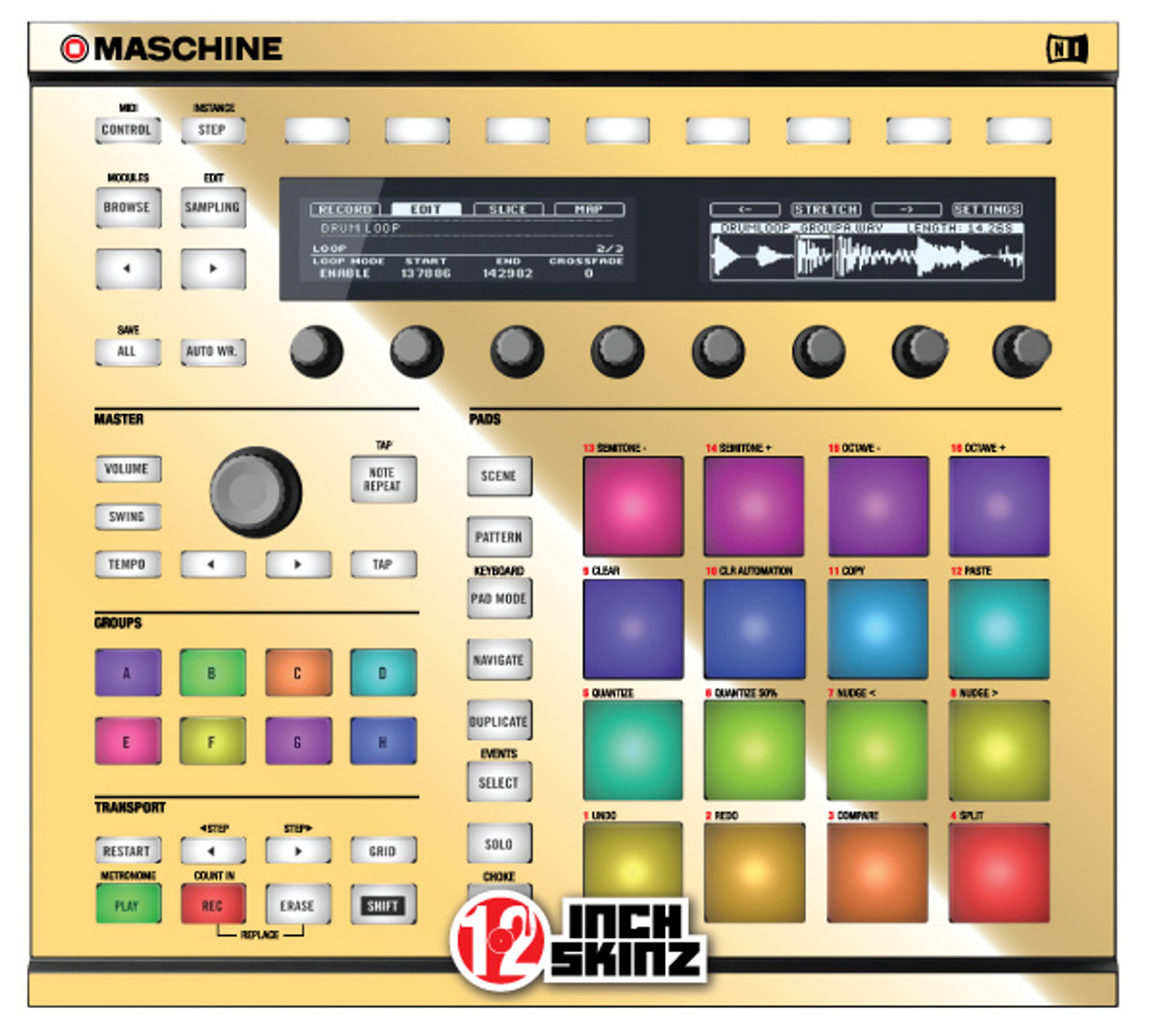 Native Instruments Maschine MK2 Skinz - Metallics