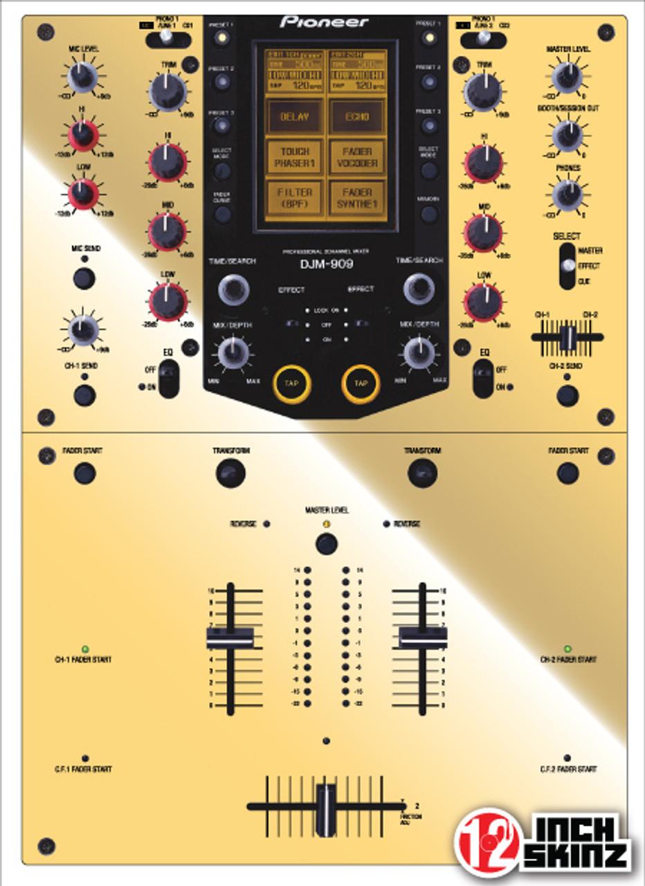 Pioneer DJM-909 Skinz - Metallics