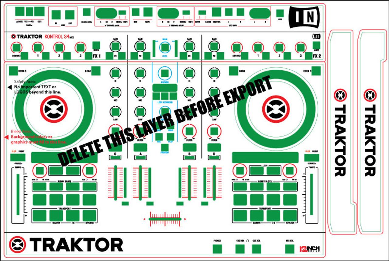 Native Instruments Kontrol S4 MK2 Skinz- CUSTOM