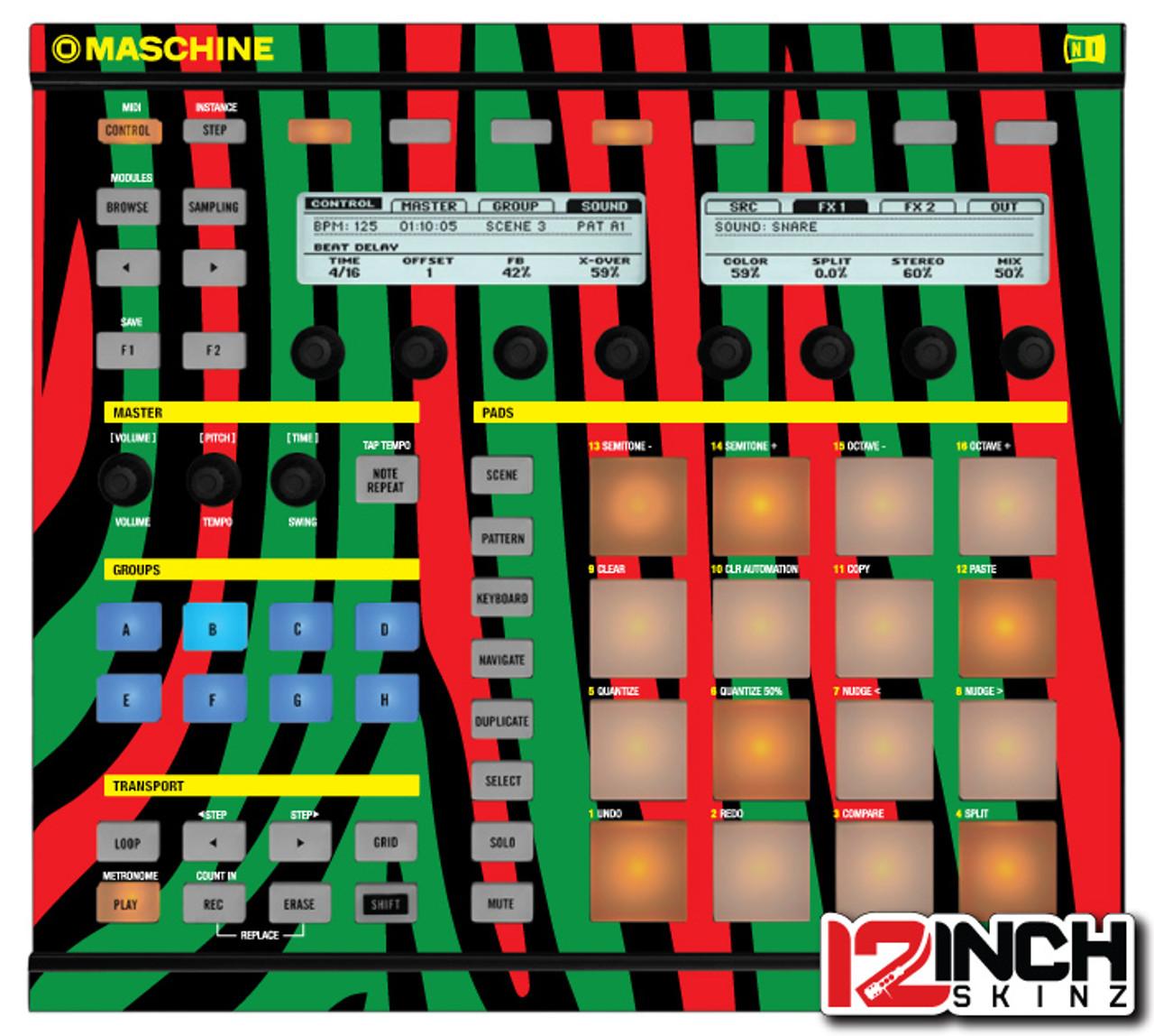 Native Instruments Maschine MK1 Skinz - Midnight Maschine