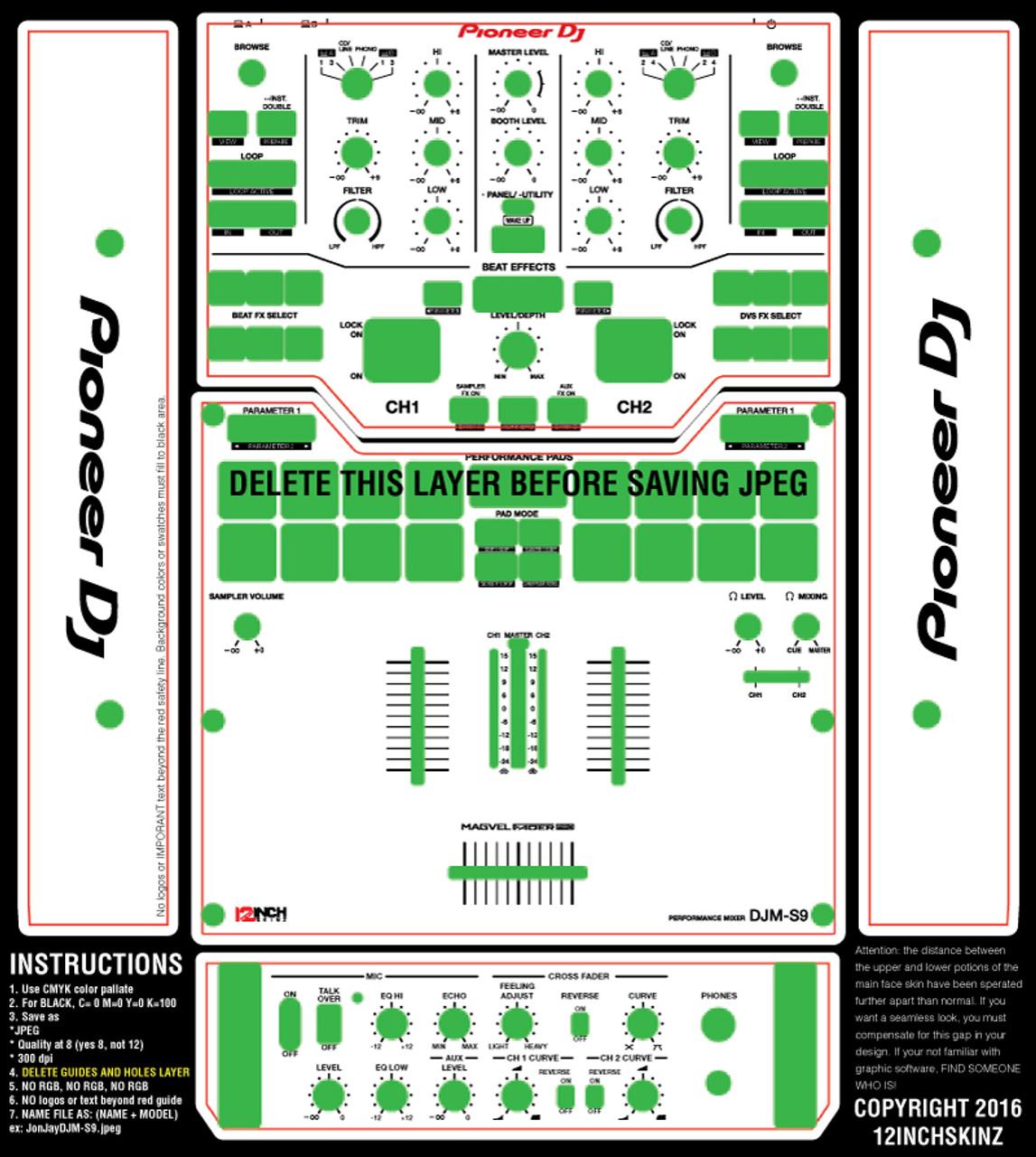 Pioneer DJM-S9 Skinz- CUSTOM