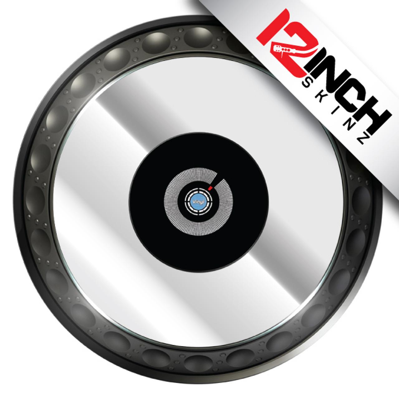 Pioneer CDJ-850/900/1000/2000/XDJ-1000/DDJ-SZ Platter  Skinz (PAIR) - Metallics