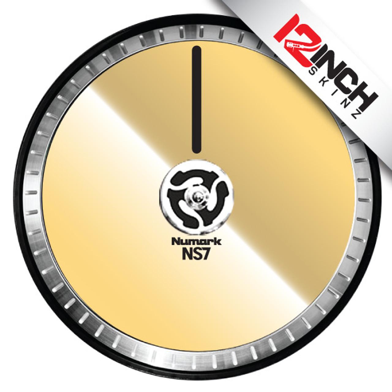 Numark NS7ii / NS7iii Platter  Skinz (PAIR) - Metallics