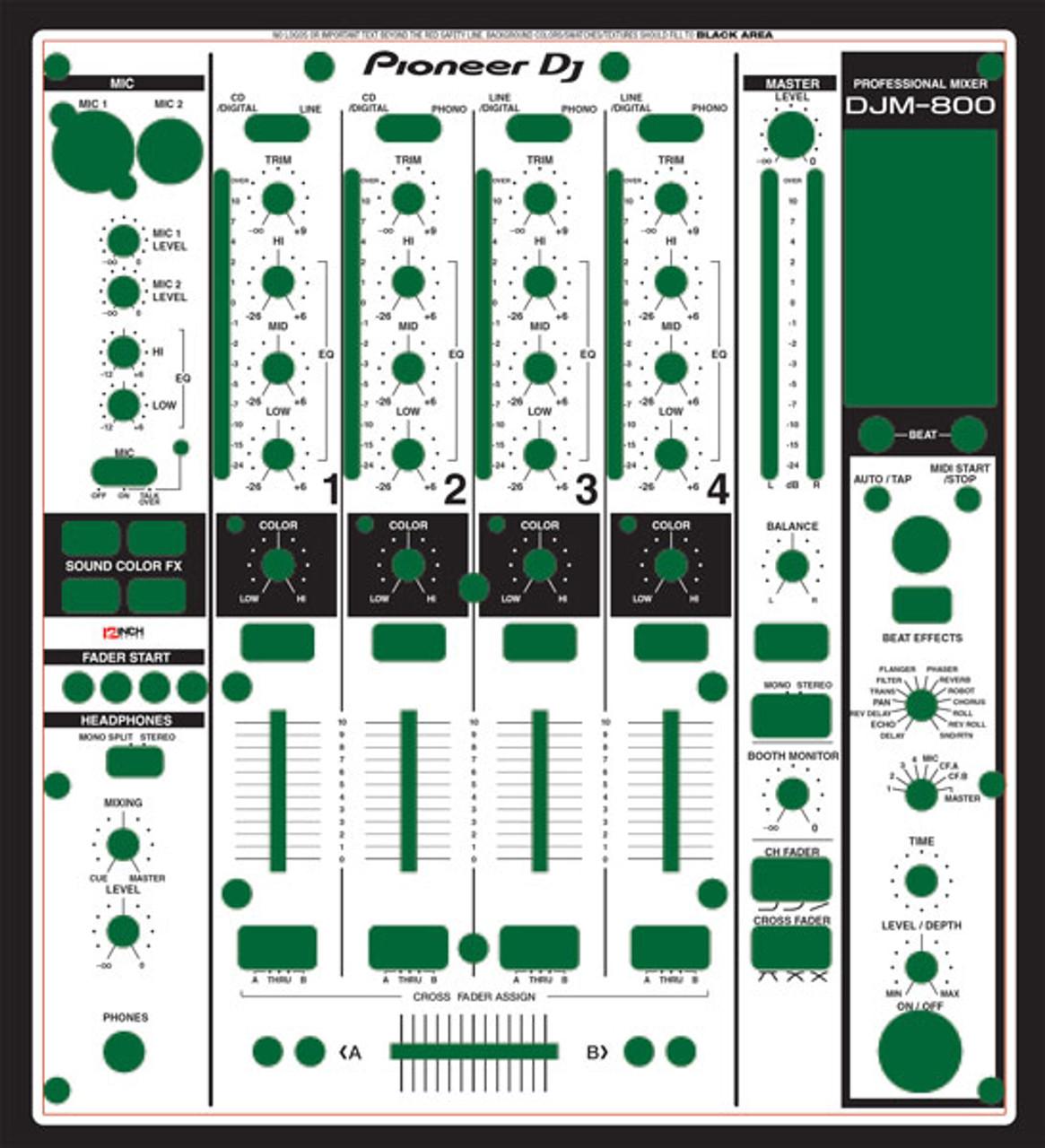 Pioneer DJM-800 Skinz - Custom