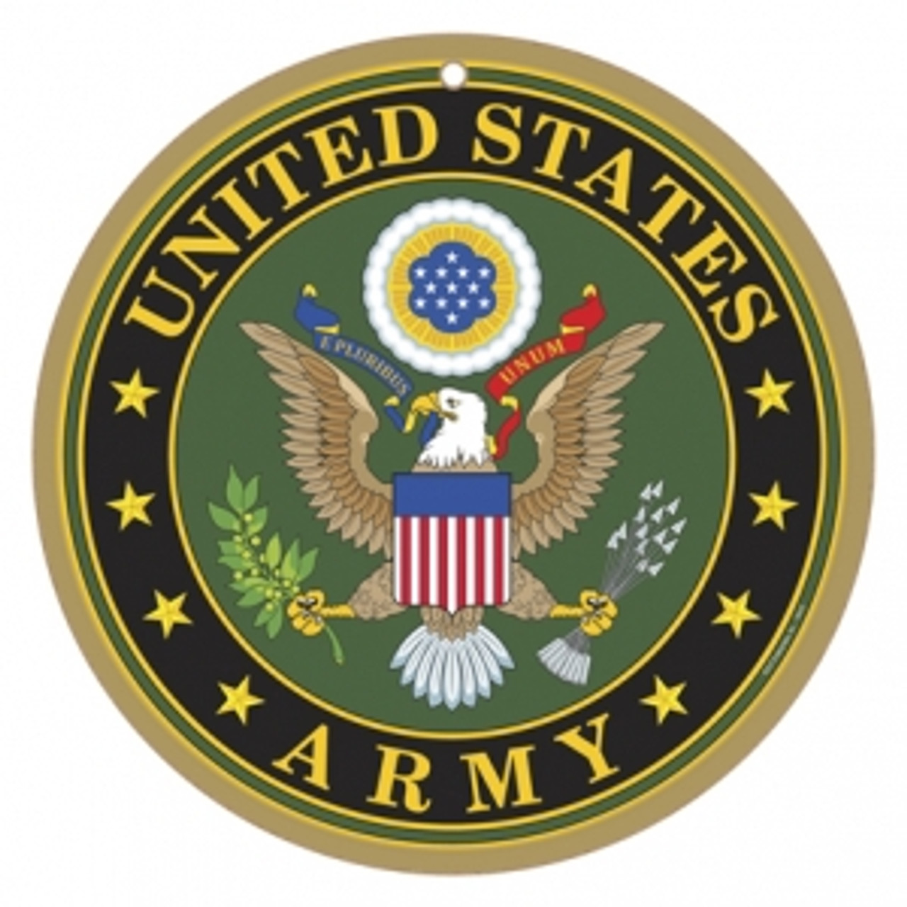 10 Quot Round Army Logo Wooden Sign Sjt15415
