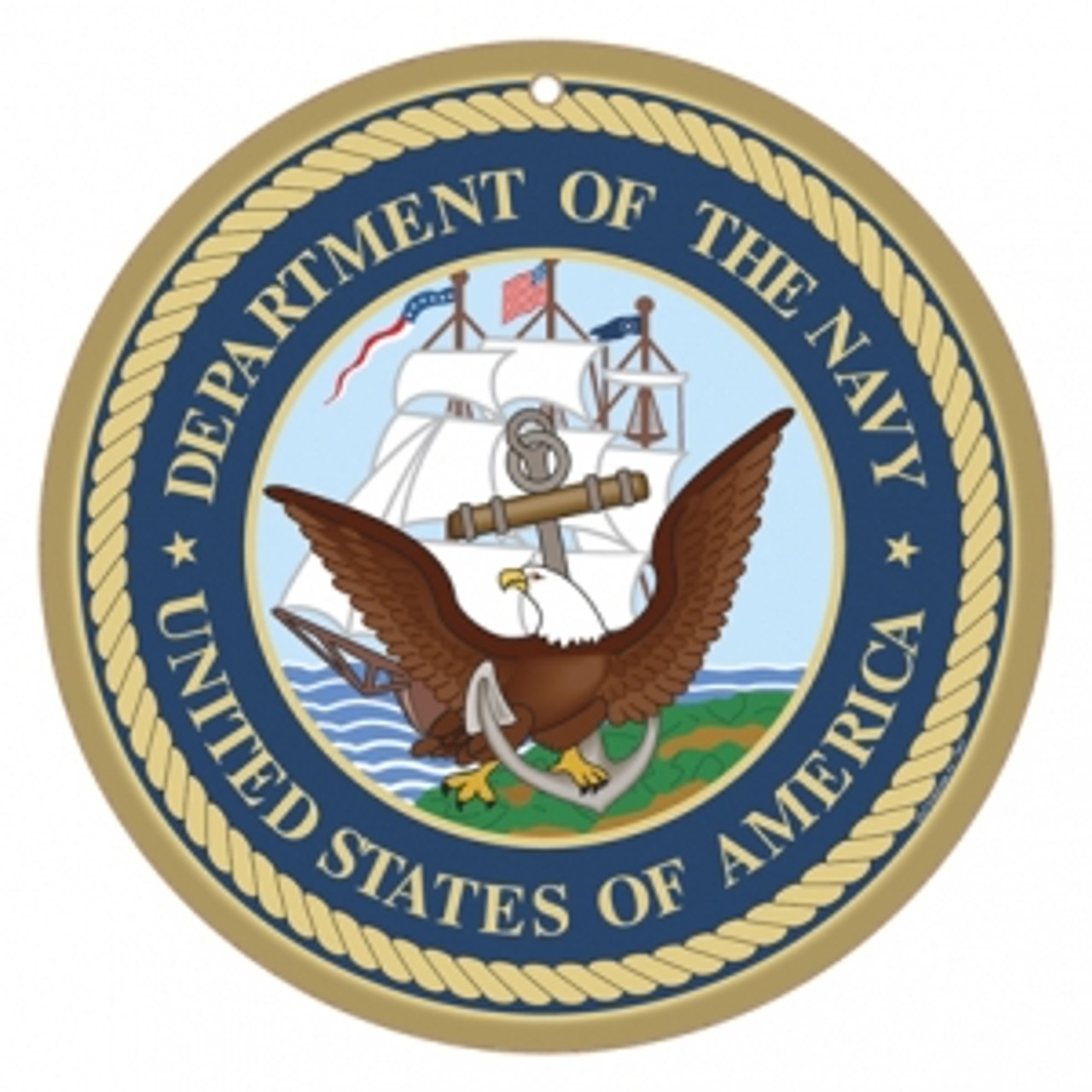 10 Quot Round Us Navy Logo Wooden Sign Sjt15417