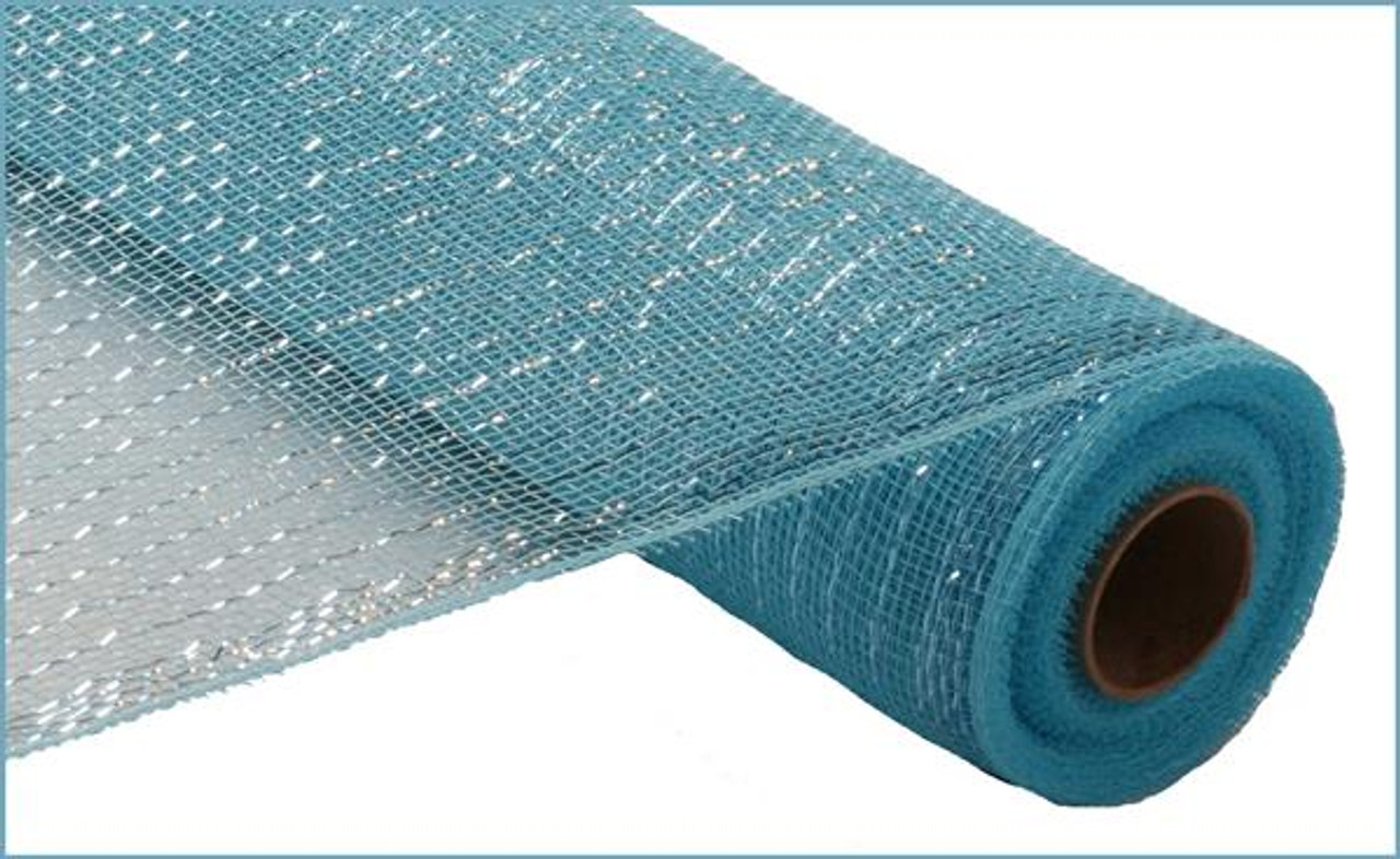 Metallic Turquoise Blue With Turquoise Foil 21 Quot X 10yd