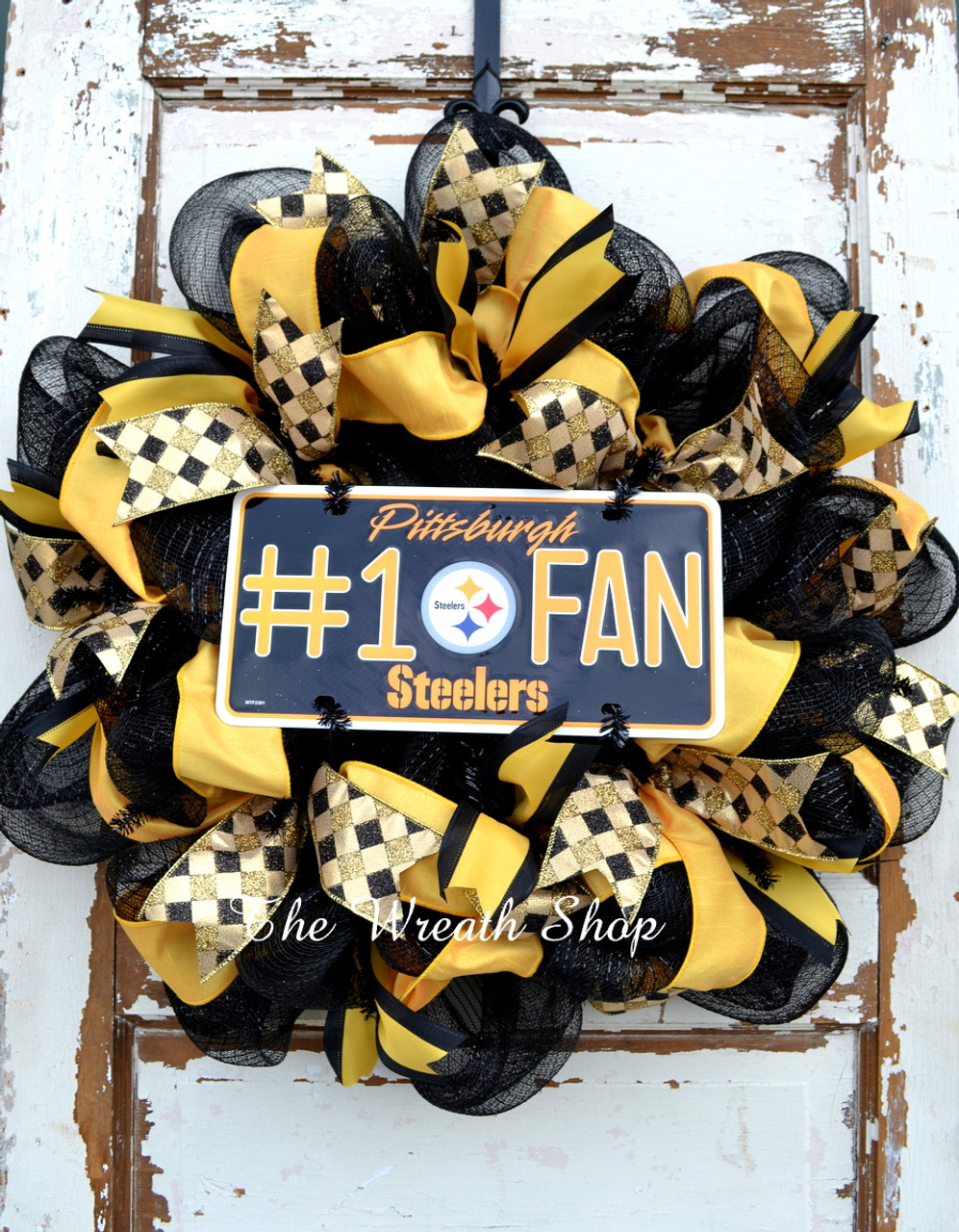 detailing 397b1 37290 Pittsburgh Steelers Wreath