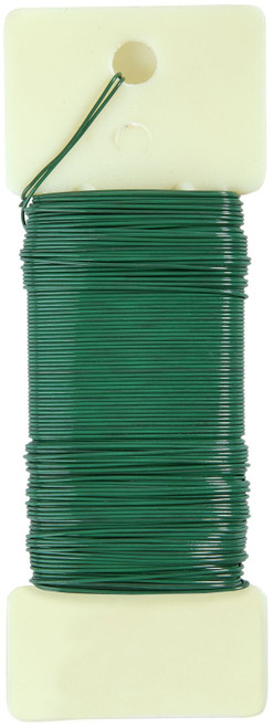 22 Gauge Floral Paddle Wire: Green 1/4 lb