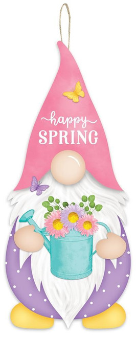 """13"""" Happy Spring Gnome Sign"""