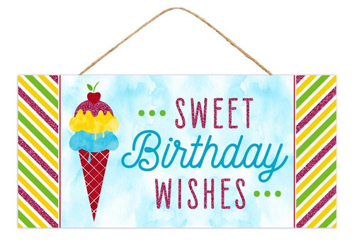 """12.5"""" Sweet Birthday Wishes Sign"""