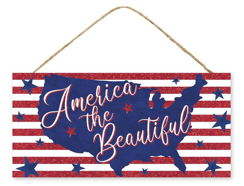 """12.5"""" America the Beautiful Map Sign"""