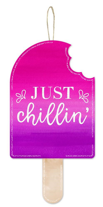 """13.5"""" Just Chillin' Popsicle Sign"""