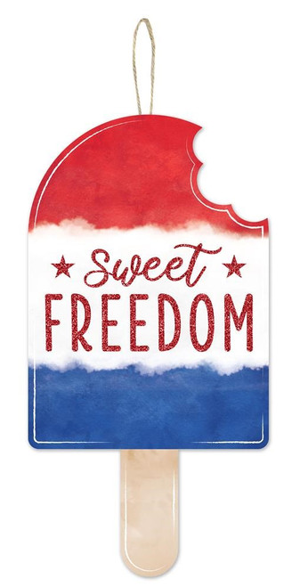"""13.5"""" Sweet Freedom Popsicle Sign"""