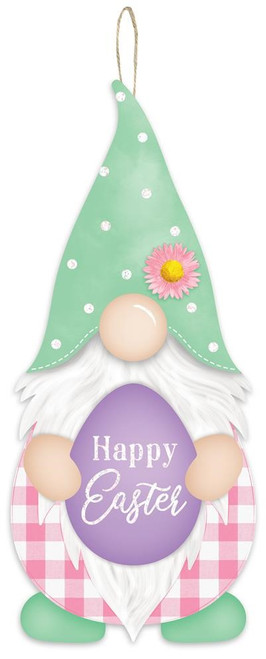 """13"""" Happy Easter Gnome Sign"""