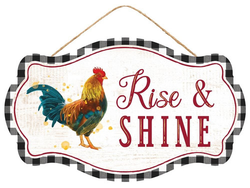 """12.5"""" Rise & Shine Rooster Sign"""