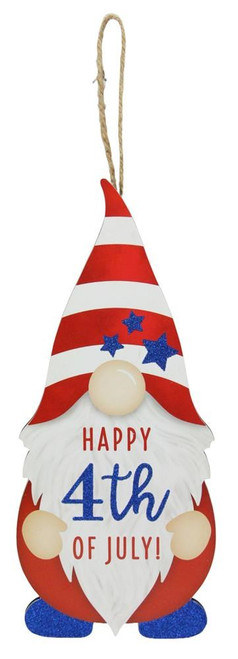 """13"""" Happy 4th of July Gnome Sign"""