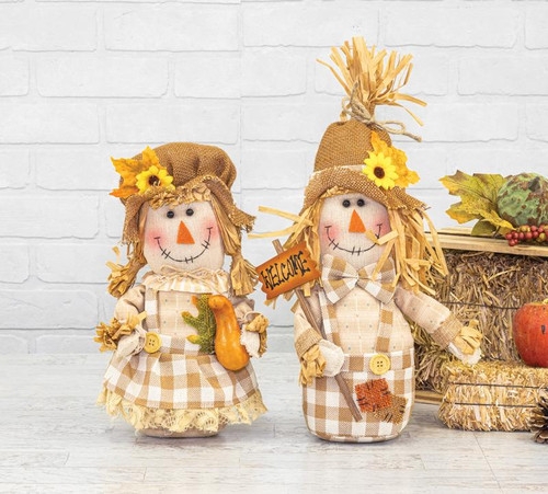 Plaid Scarecrow Sitters