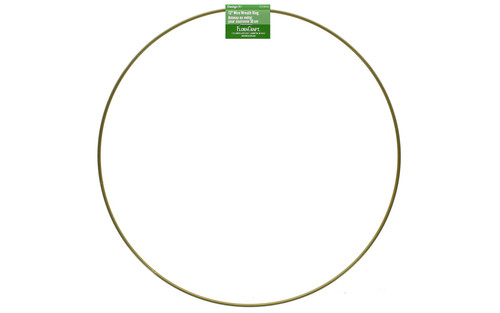 """16"""" Single Wire Wreath Ring - Gold"""