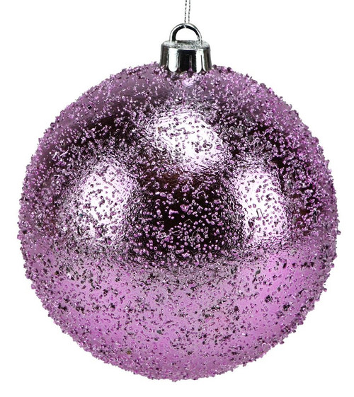 100mm Ice Ball Ornament: Pink