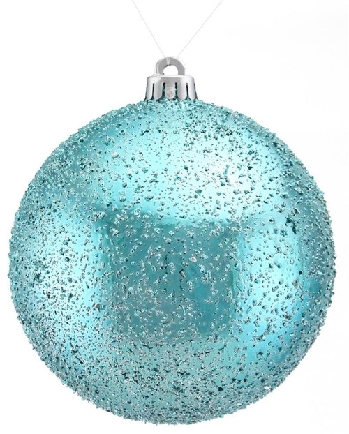 150mm Ice Ball Ornament: Turquoise