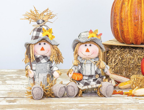 Barn Plaid Scarecrow Sitters