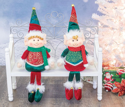 Peppermint Pixie Elf Sitters