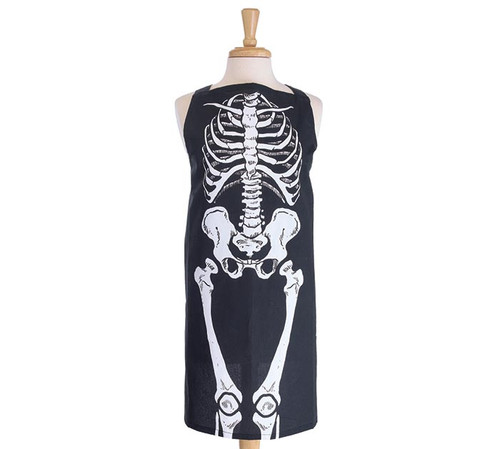 Skeleton Adult Apron and Oven Mitts Set