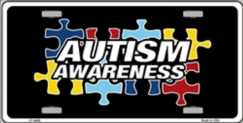 Autism Awareness Metal License Plate Sign
