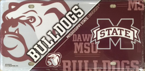 Mississippi State Deluxe Metal License Plate