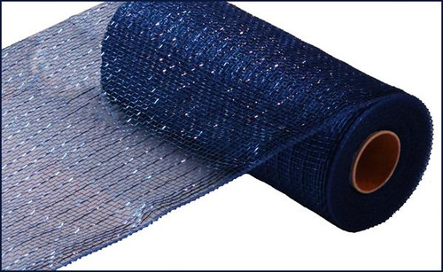 "10"" Deco Poly Mesh: Metallic Navy Blue"