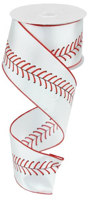 "2.5"" Baseball Stitching Ribbon - 10Yd"