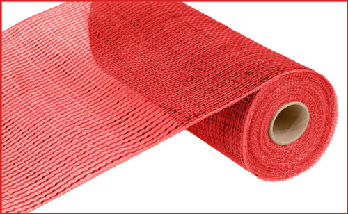 """Deco Mesh - Wide Foil - Red w/ Red Foil - 10"""" x 10Yd (RE134124)"""