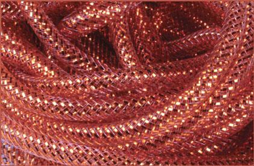Metallic Deco Flex Tubing: Brown with Gold Foil - 8mm